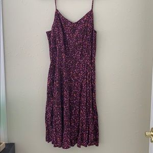 Women's Maroon Floral Old Navy Dress